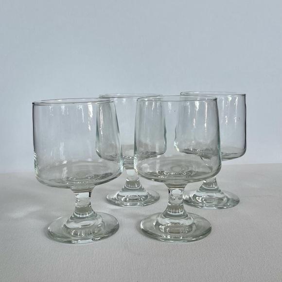 Vintage Short Stem Wine Glasses